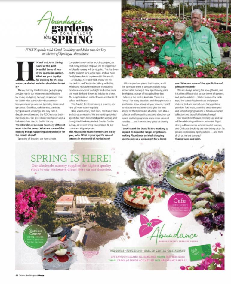 Spring-Abundance